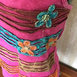 India Boutique Tops - Bright colored top