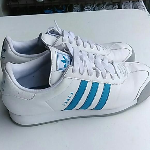 le adidas mens sz 95 usato bianco blu poshmark samoa.