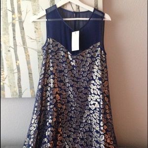 ERIN by Erin Fetherston Dresses & Skirts - Erin fetherston sapphire & gold cocktail dress ❤️