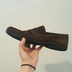 Prada Other - PRADA 9.5 BROWN SUEDE LOAFERS