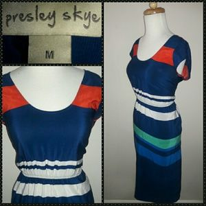PRESLEY SKYE- Striped Dress with Hidden POCKETS!!!