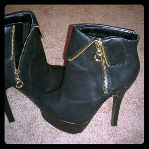 A.X.N.Y. American Exchange Shoes - Women's black high heel boots