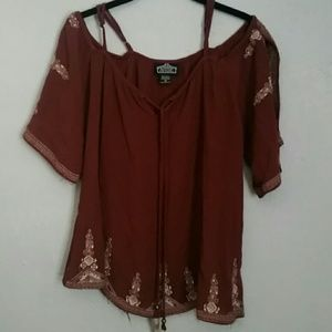 Angie Tops - Angie open shoulder blouse