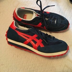 Onitsuka Tiger Shoes - Onitsuka Tiger red & blue sneakers