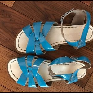 Salt Water Sandals by Hoy Shoes - blue salt water sandals GENTLY WORN