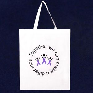 Handbags - 💜💜grocery purple ribbon tote bags