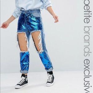 Denim - Sequin Skinny Jeans