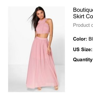 PINK Boutique Satya Chiffon Maxi Skirt Co-Ord Set