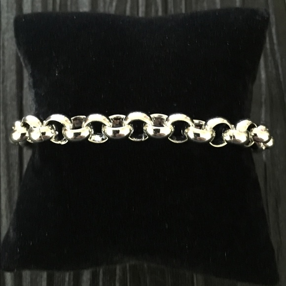 Other - Polished Stainless Steel Rolo Link Bracelet