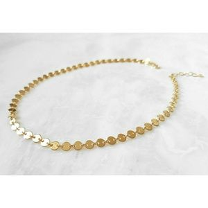 New Multi Disc Choker Necklace