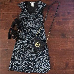 Max Studio dress- black/blue