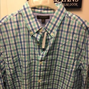 Banana Republic Plaid Button Down Shirt sizeXL