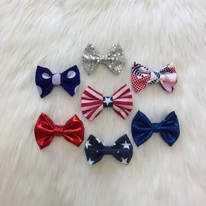 Other - 🇺🇸Patriotic Princess Clip In Bows!