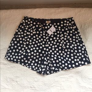 J. Crew adorable polka dot shorts! NWT!