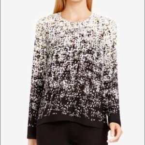 Vince Camuto Texture Printed Blouse