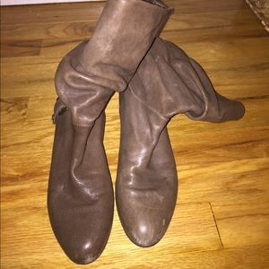Gently used Stuart Weitzman brown leather boots
