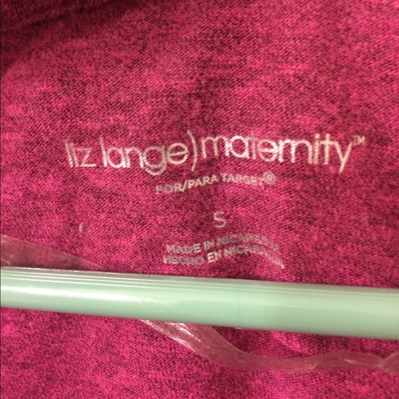 Liz Lange for Target Tops - Liz Lange fuchsia long Maternity tee
