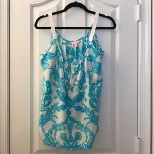 Lilly Pulitzer silk top L