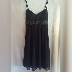 Ruby Rox Dresses & Skirts - Little Black Dress -Sheer Overlay, Glitter and Bow
