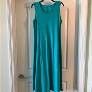 Appleseed's Dresses & Skirts - Petite tank teal dress.