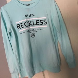 Young & Reckless Sweaters - Young and Reckless Teal Sweater