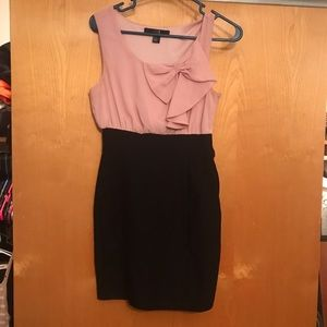 Forever 21 Dresses & Skirts - Forever 21 pink and black formal bow dress
