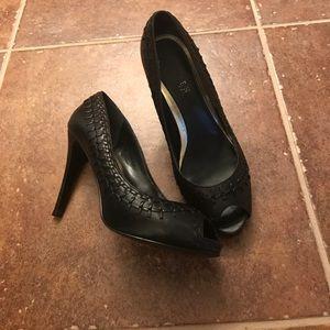 """Ralph Lauren Black Label Shoes - Black peep-toe 4"""" heels"""