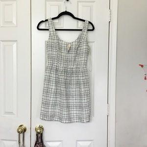 Black and white tank mini dress