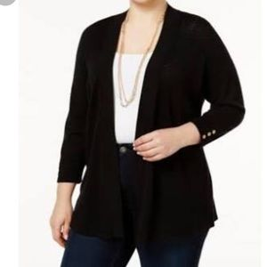 Charter Club Sweaters - charter club plus size open front cardigan sweater