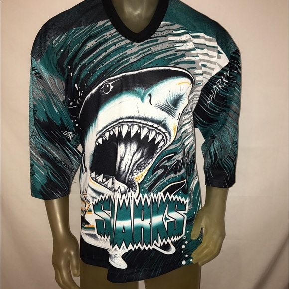 best service 613bb 27397 Men's Vintage San Jose Sharks Jersey Size Large