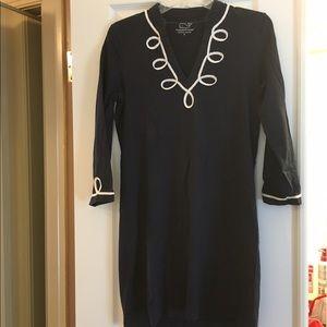 Vineyard Vines Navy & White 3/4 Sleeve Dress