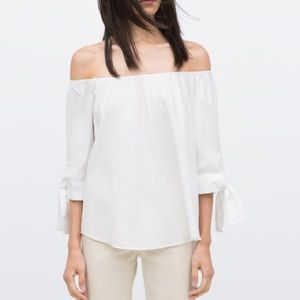 Zara White off the shoulder blouse.