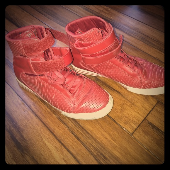 80342c65951 Red Perf. Supra TK Society Leather Trainers. M_592b2df3c6c7951ae0077054