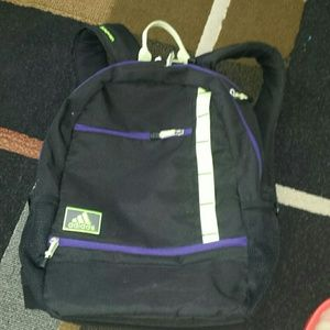 adidas Bags   Ultra Ride Black And Neon Backpack   Poshmark 43bf6494ef