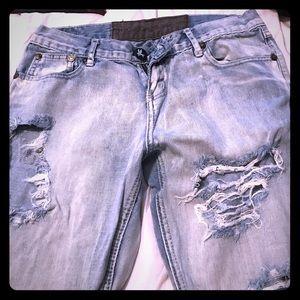 One Teaspoon Denim - One teaspoon blue Jean pants destroyed denim
