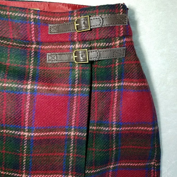 Boden boden british tweed plaid skirt size 4p from for British boden