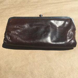 HOBO Handbags - Hobo International Lauren brown clutch.