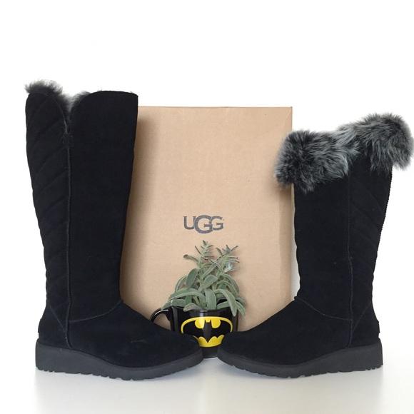 64480db8a37 NIB Ugg Rosalind Tall Boots Black Women Size 9.5 NWT