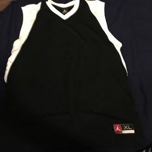 Other - Black and White Jordan Basketball Sleeveless Shirt