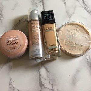 Maybelline Other - Foundation bundle