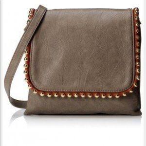 "Big Buddha Handbags - Big Buddha Gray ""Gretchen"" Studded Crossbody Bag"