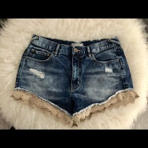 Free People Pants - Free People Denim Shorts