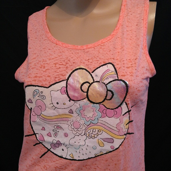 4e679eee72373 🔥5 for  15🔥 HELLO KITTY BURNOUT TANK NEW LIST