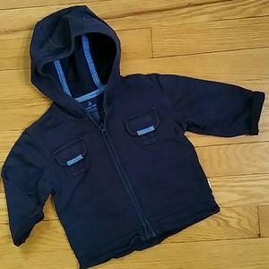 Size 6-12 mos. Gap zip-up sweatshirt
