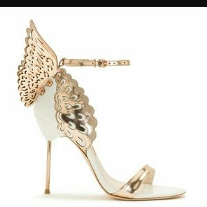 Sophia Webster Shoes - White and gold butterfly heels