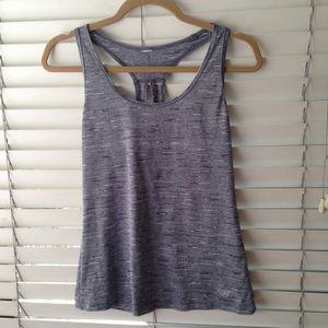 New Balance racerback workout top in gray