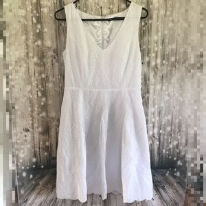 Ivanka Trump cotton eyelet lace dress like new 8
