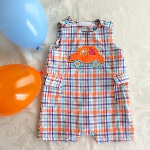 Vitamins Baby Other - Car Striped Romper