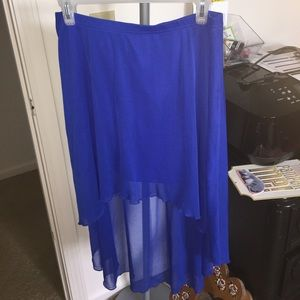Decree Dresses & Skirts - Decree highlow screen skirt