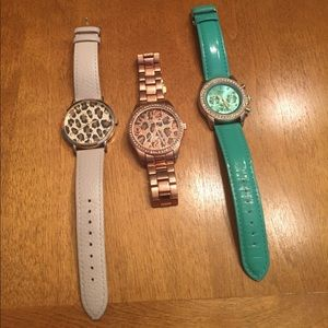 Geneva Platinum Accessories - {Geneva} 3set of watches!!